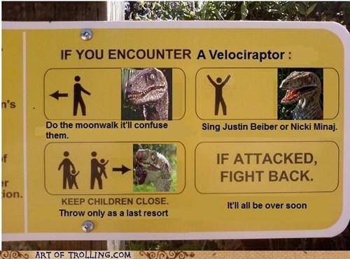 sign dinosaurs velociraptor - 7128021504
