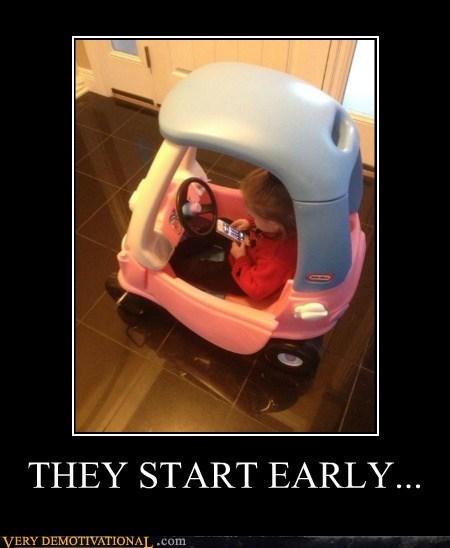 kids driving idiots texting - 7128466944
