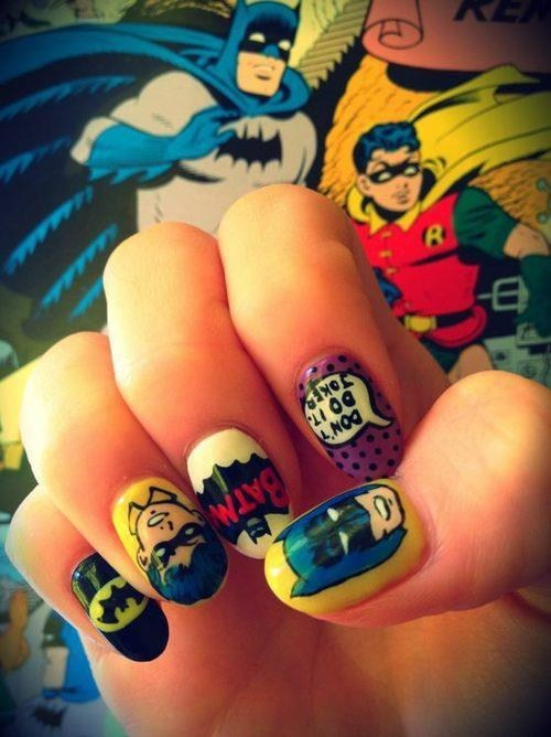art awesome batman fingernails - 7128617984