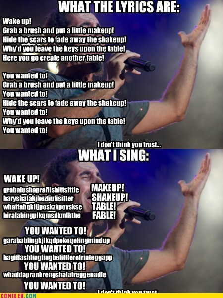 system of a down,lyrics,chop suey,song lyrics