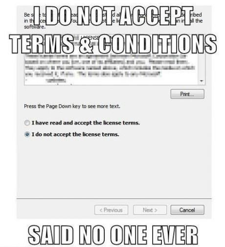 terms and conditions,EULA