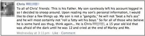 fatherson,facebook,thug life
