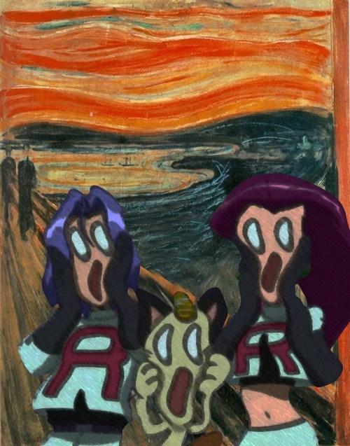 Team Rocket The Scream art paintings - 7129986560