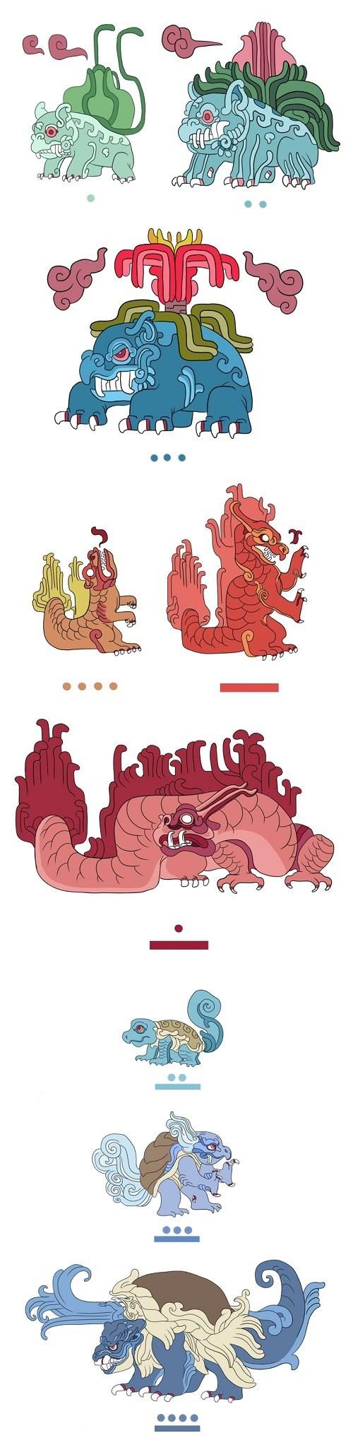 Pokémon art starters blastoise charizard mayans venasaur - 7130036480