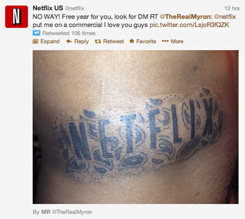 That's One Way to Get a Free Netflix Subscription - Ugliest Tattoos