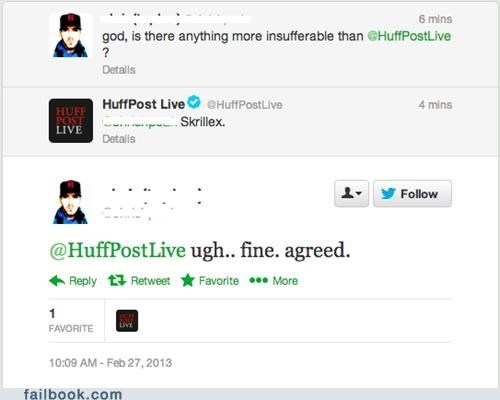 skrillex,twitter,huffington post