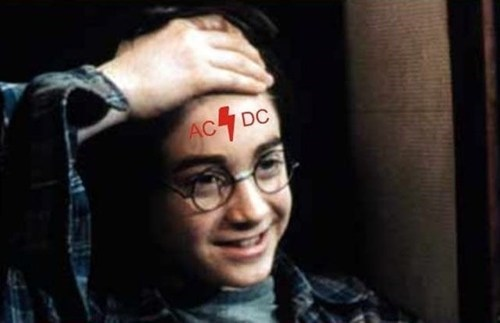 acdc,Harry Potter,lightning bolts