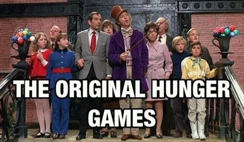 Willy Wonka,nostalgia,hunger games,g rated,Parenting FAILS