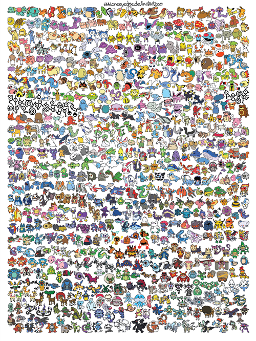 Pokémon art generations - 7130227200