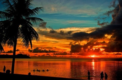 summer,guam,beach,sunset