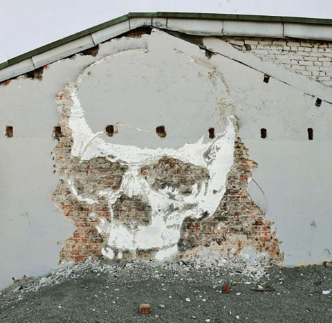 Street Art,skull,graffiti,hacked irl