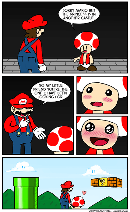 toad comics otp mario true love - 7130305792