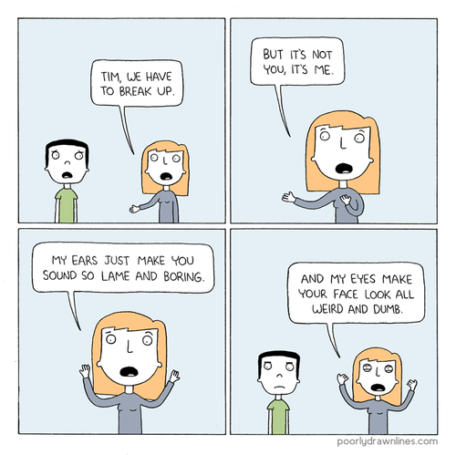 poorly drawn lines comics breaking up its-not-you-its-me - 7130322432