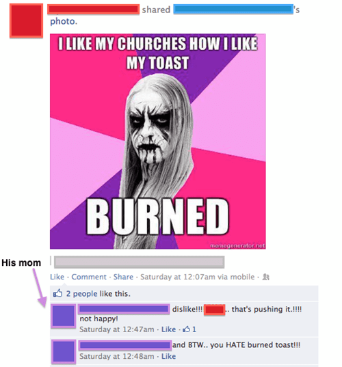 metal moms parenting church burning black metal failbook - 7130341376