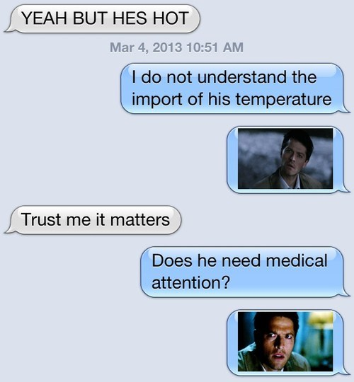 iPhones,dont-understand,Supernatural,castiel,g rated,AutocoWrecks