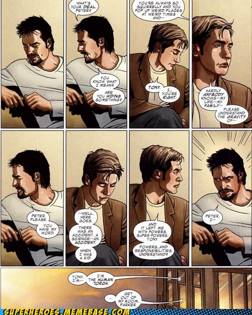 peter parker Spider-Man off the page iron man - 7130426880
