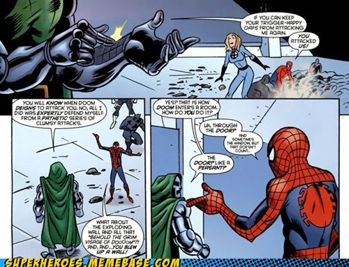 Spider-Man off the page dr doom - 7130433792