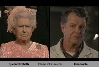 queen elizabeth John Noble totally looks like
