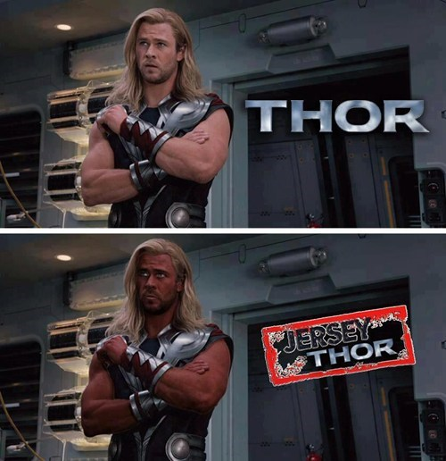 bros Thor jersey shore tan puns