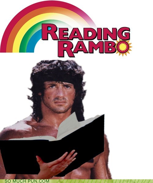 rambo reading rainbow - 7130525952