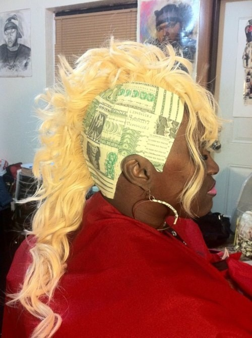 wtf,hairdos,money