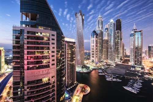 dubai cityscape skyscrapers pretty colors - 7130668288