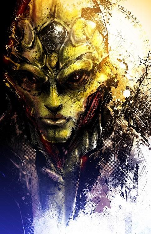 thane krios,mass effect,Fan Art,video games