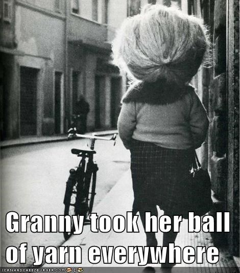 hair,granny,knitting,yarn