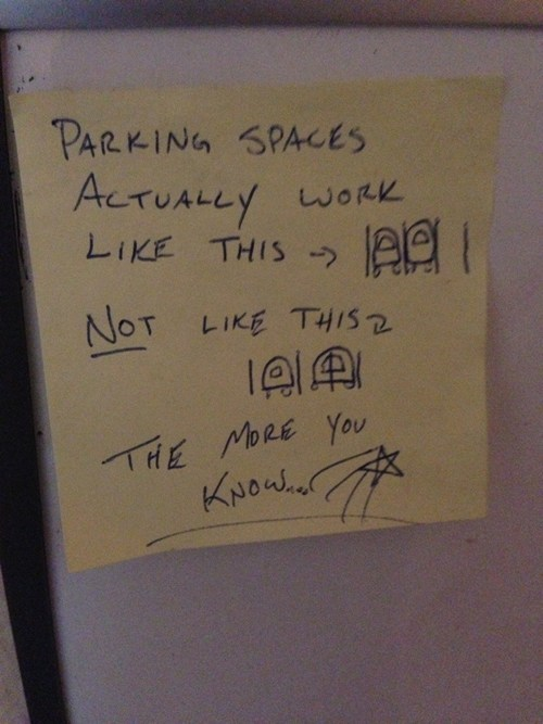 cars passive aggressive parking