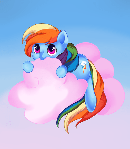 clouds candy art rainbow dash - 7131085312