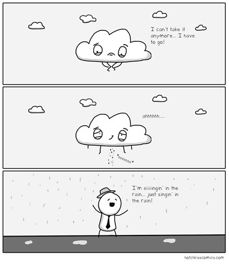 Singing in the rain comic