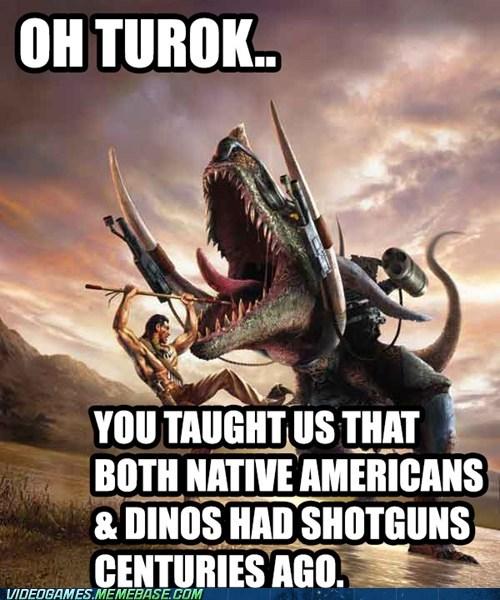 realism turok shotguns dinosaurs - 7132404992