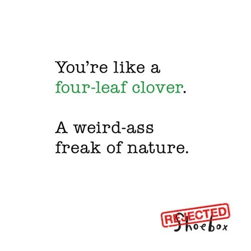 freak cards weird four-leaf clover - 7132517632