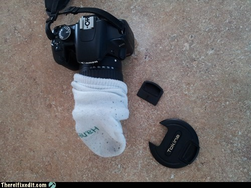 photography socks camera lens cap