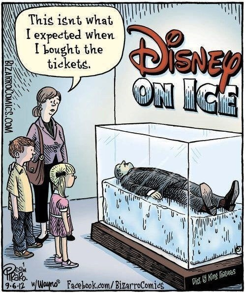disney,disney on ice,misinterpretation,literalism,ice