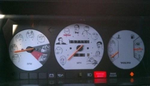 memes IRL volvo speedometer - 7132719104