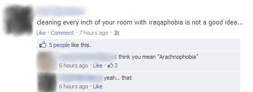 arachnophobia,iraq