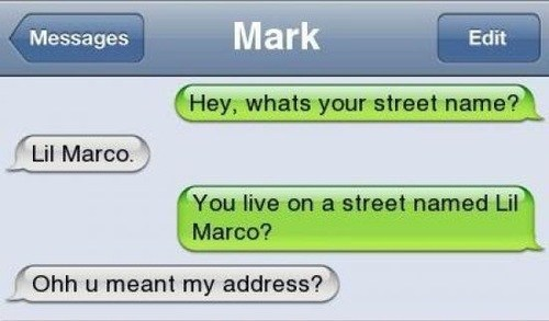 text streets sms - 7132893440
