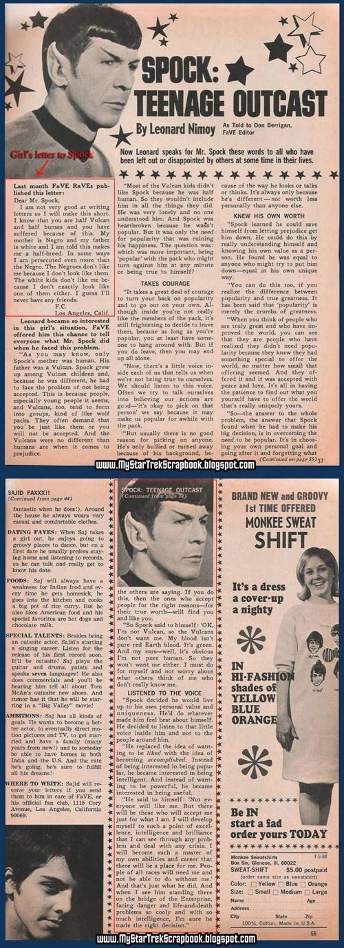 Spock response Leonard Nimoy Star Trek - 7133042944