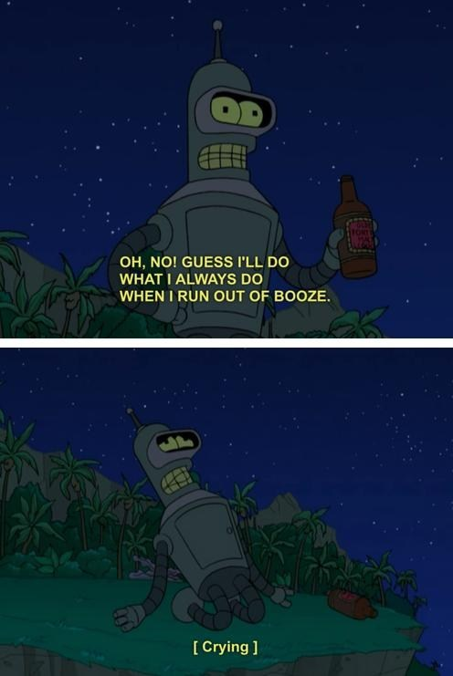 god alcohol bender booze futurama - 7133075968