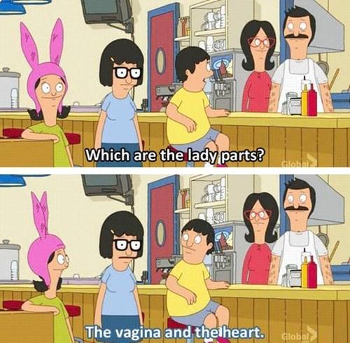 lady parts,makes sense,bobs-burgers