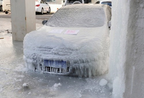cars frozen