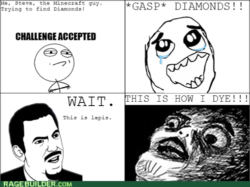 Challenge Accepted diamonds minecraft