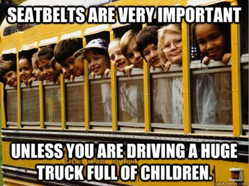 school bus safety seatbelts g rated Parenting FAILS