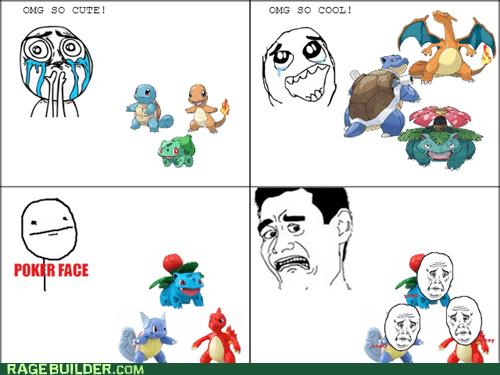 Pokémon,blastoise,charmeleon,charizard,ivysaur,charmander,squirtle,poker face,bulbasaur,venusaur,wartortle,starter pokemon