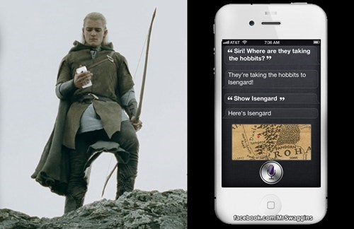 Lord of the Rings,siri,iphone