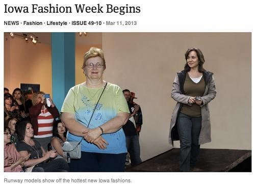 fashion week the onion Iowa