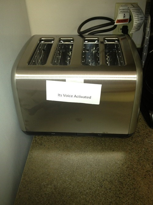 shouting voice activated pranks toaster monday thru friday g rated - 7135293184