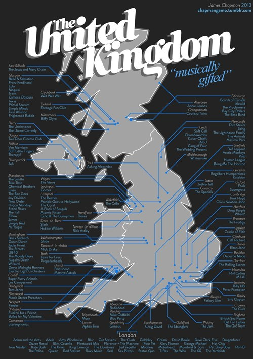 united kingdom,Maps,musicians