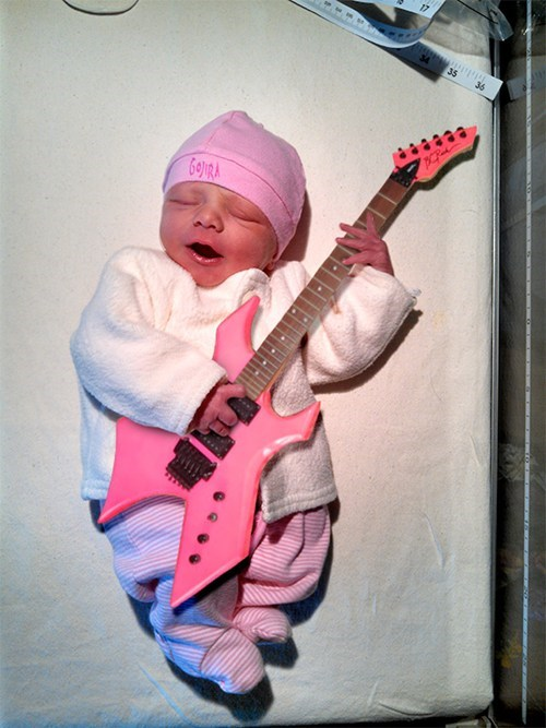 Babies,guitars,pink